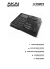 Akai XR 20 Drums Quick start manual (76 pages)