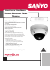 Sanyo VDC-DP7584H Security Camera Specifications (2 pages)