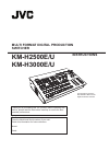 JVC KM-H2500 Music Mixer Instructions manual (56 pages)